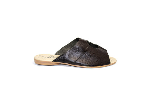 "FLAVIO DOLCE SANDALS ""STELLA"" SOFT LEATHER - BLACK - BRASIL"