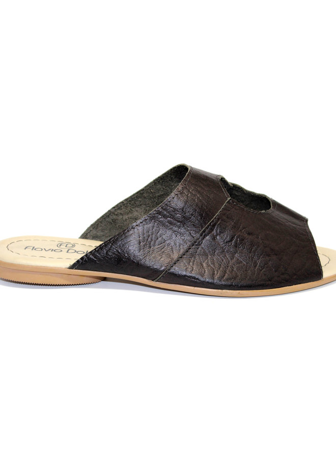 "SANDALS ""STELLA"" SOFT LEATHER - BLACK - BRASIL"
