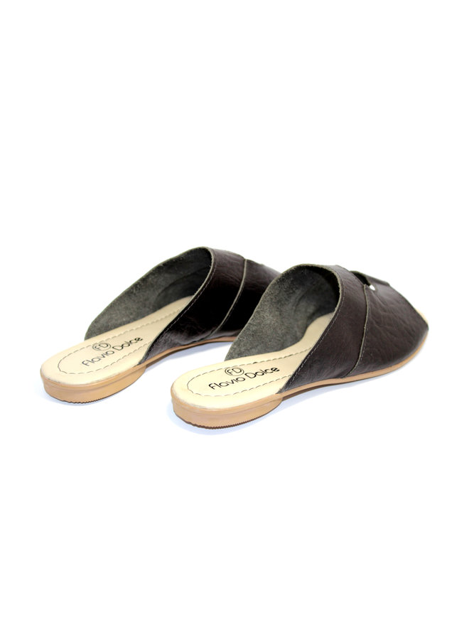 "SANDALS ""STELLA"" SOFT LEATHER - BLACK - BRASIL - VOLARE NEW COLLECTION"
