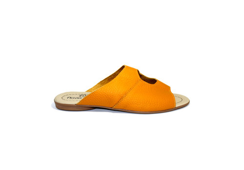"FLAVIO DOLCE SANDALS ""STELLA"" SOFT LEATHER - MUSTARD - BRASIL"