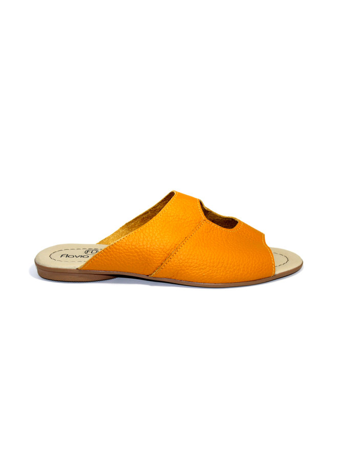 """SANDALS """"STELLA"""" SOFT LEATHER - MUSTARD - BRASIL - VOLARE NEW COLLECTION"""