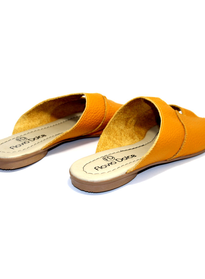 "SANDALEN ""STELLA"" SOFT LEDER - MUSTARD - BRASILIEN  - VOLARE NEW COLLECTION"