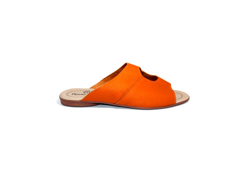 "FLAVIO DOLCE SANDALS ""STELLA"" SOFT LEATHER - ORANGE - BRASIL"