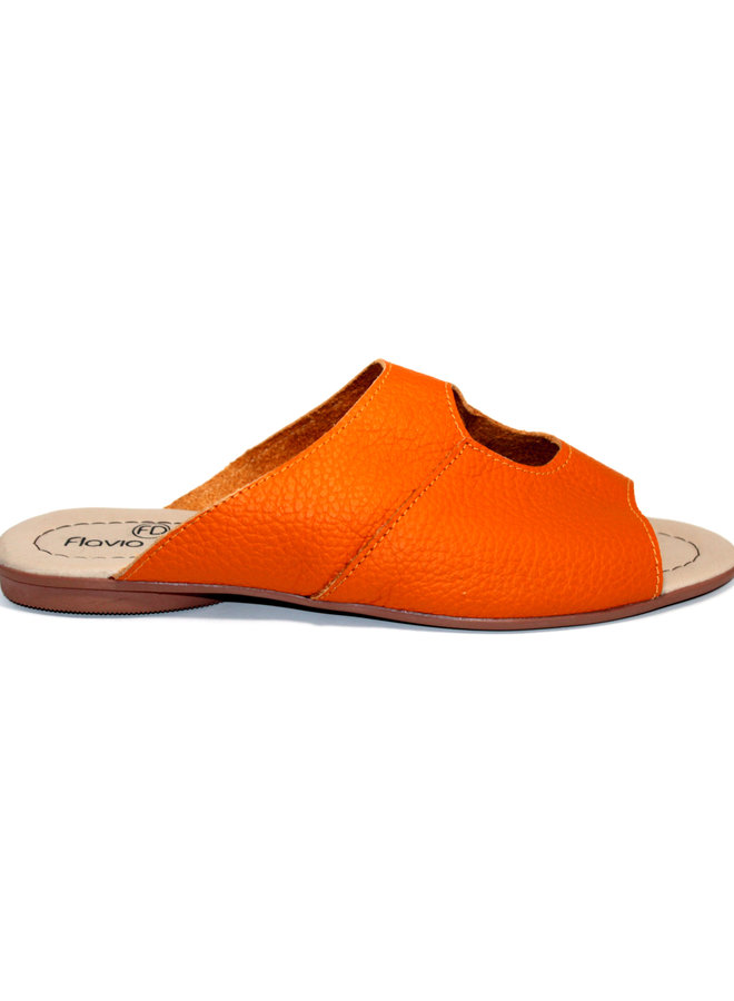 "SANDALEN ""STELLA"" SOFT LEDER - ORANGE - BRASILIEN"