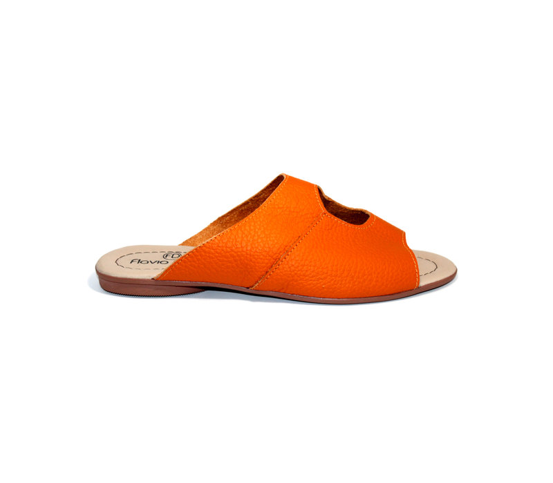 "SANDALS ""STELLA"" SOFT LEATHER - ORANGE - BRASIL - VOLARE NEW COLLECTION"