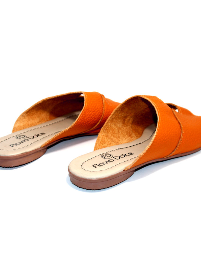 "SANDALEN ""STELLA"" SOFT LEDER - ORANGE - BRASILIEN - VOLARE NEW COLLECTION"
