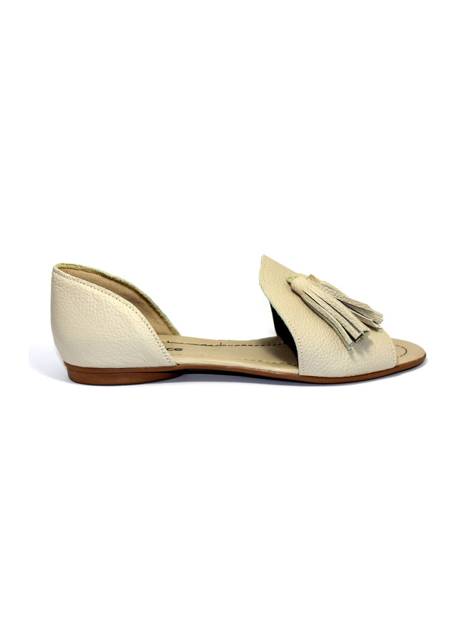"SANDALS ""SOPHIA"" SOFT LEATHER - SAND - BRASIL - VOLARE NEW COLLECTION"