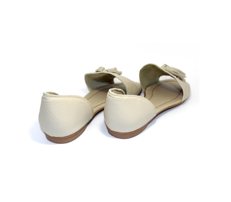 """SANDALS """"SOPHIA"""" SOFT LEATHER - SAND - BRASIL - VOLARE NEW COLLECTION"""