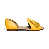 "SANDALS ""SOPHIA"" SOFT LEATHER - MUSTARD - BRASIL - VOLARE NEW COLLECTION"