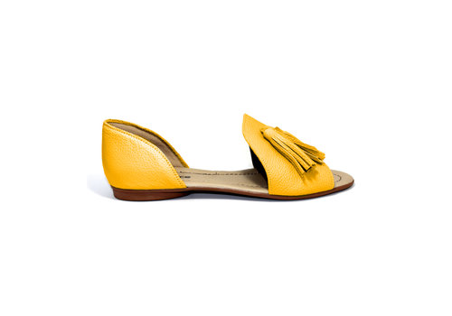 "FLAVIO DOLCE SANDALS ""SOPHIA"" SOFT LEATHER - MUSTARD - BRASIL"
