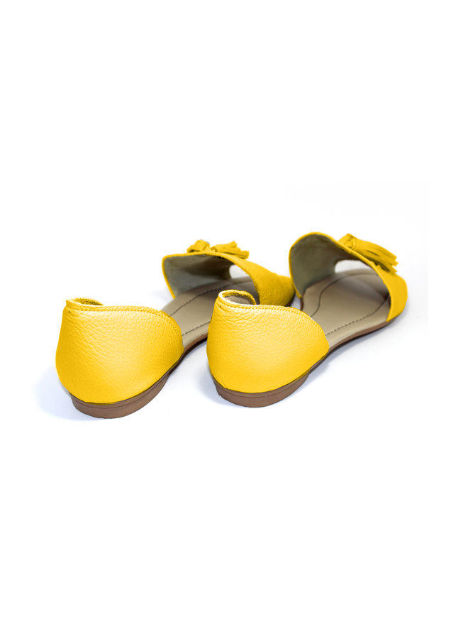 """SANDALS """"SOPHIA"""" SOFT LEATHER - MUSTARD - BRASIL - VOLARE NEW COLLECTION"""