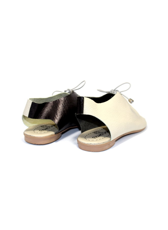 "SANDALEN ""SEA"" SOFT LEDER - SAND/SCHWARZ- BRASILIEN - VOLARE NEW COLLECTION"