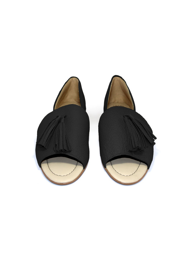 """SANDALS """"SOPHIA"""" SOFT LEATHER - BLACK - BRASIL - VOLARE NEW COLLECTION"""