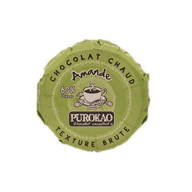 PUROKAO DRINK CHOCOLATE DISC WITH ALMOND - 60% COCOA - MEXICO - 60 G