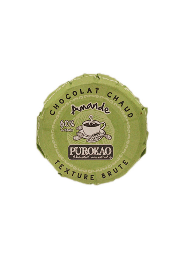 PUROKAO DRINK CHOCOLATE DISC WITH ALMOND - MEXICO - 60 G