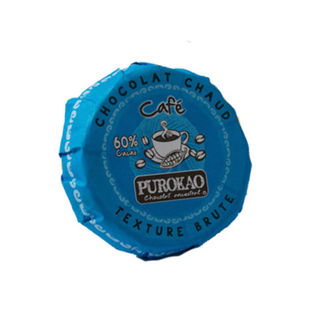 PUROKAO DRINK CHOCOLATE DISC WITH COFFEE - 60% COCOA  - MEXICO - 60 G