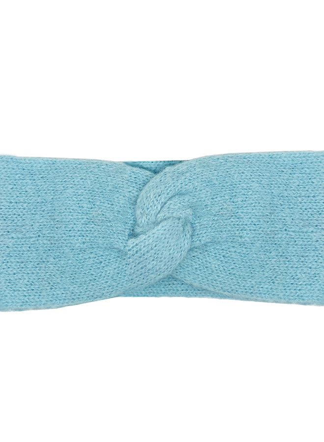 HEADBAND LOOP - 100% ALPACA WOOL - BABY BLUE - HANDMADE