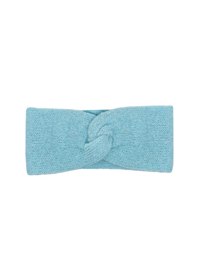 STIRNBAND LOOP - 100% ALPAKA WOLLE - BABY BLUE - HANDGESTRICKT