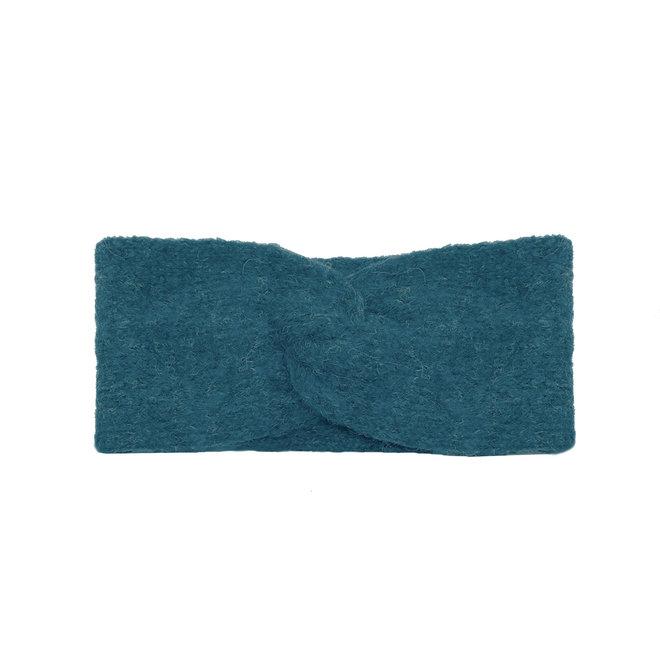 CINTILLO LOOP -100% LANA DE ALPACA - PETROL BLUE - HECHO A MANO