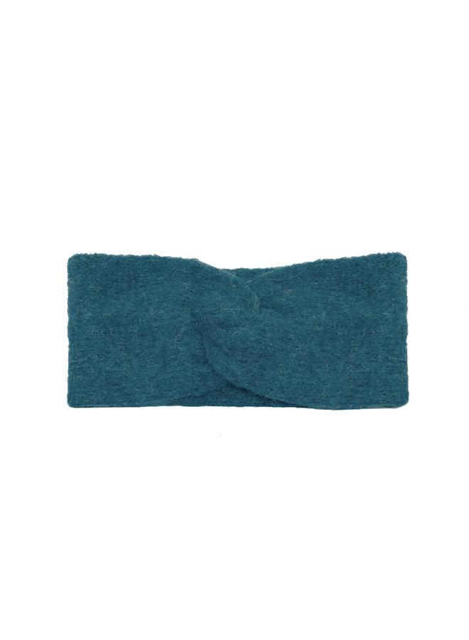 STIRNBAND LOOP - 100% ALPAKA WOLLE - PETROL BLUE - HANDGESTRICKT
