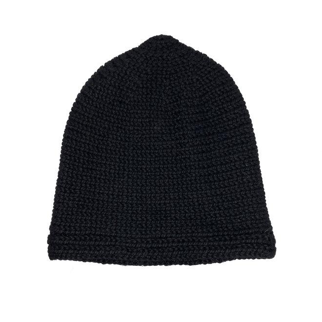 "CAP ""APU""  - 100% ALPACA WOOL - BLACK - HANDMADE"