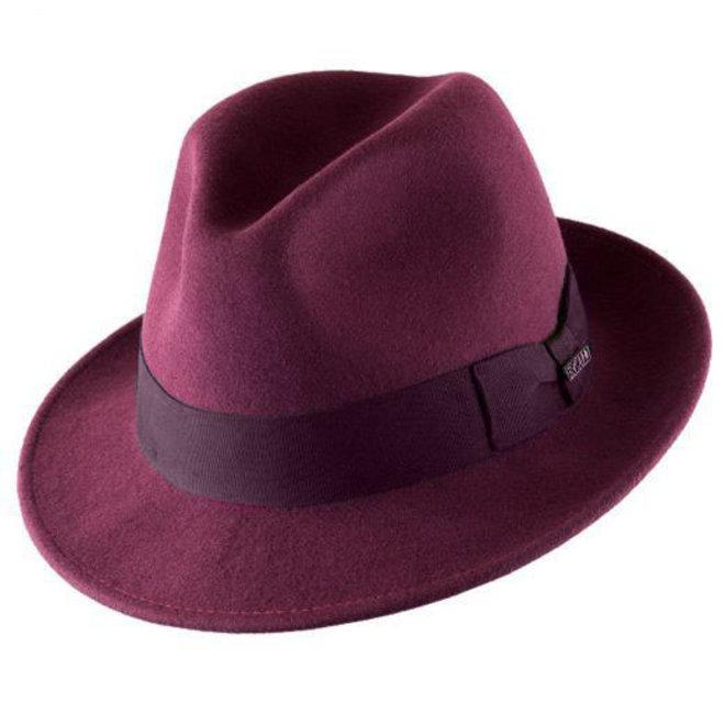 """HAT """"MILANO"""" WOOL FELT FROM ECUADOR - BURGUNDY"""
