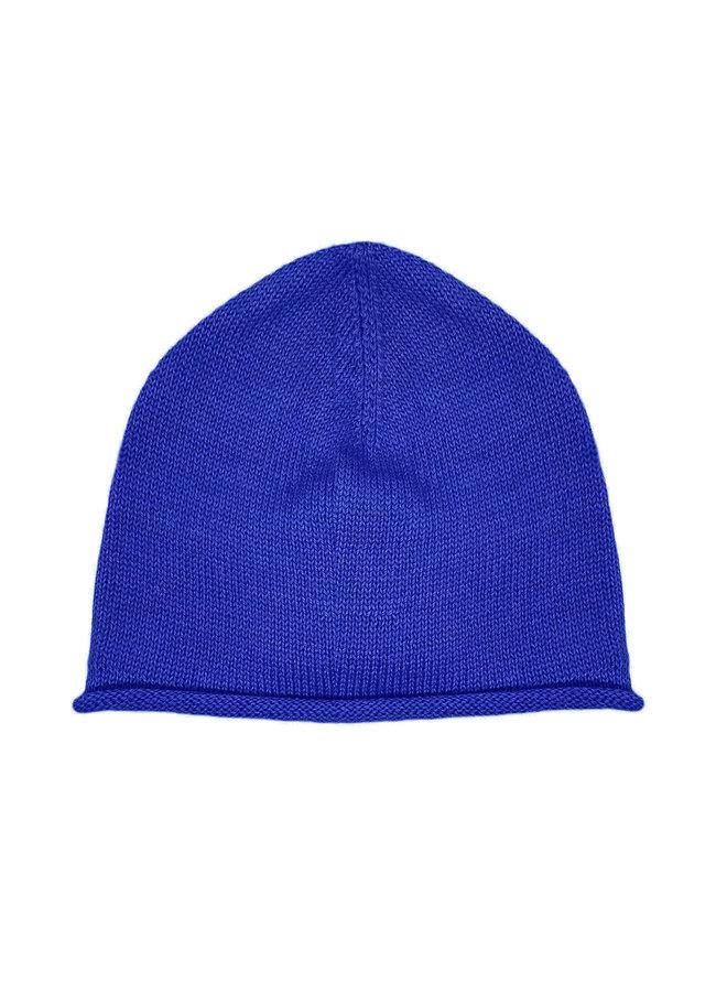 CAP - 100% ALPACA WOOL FINE - ELECTRIC BLUE