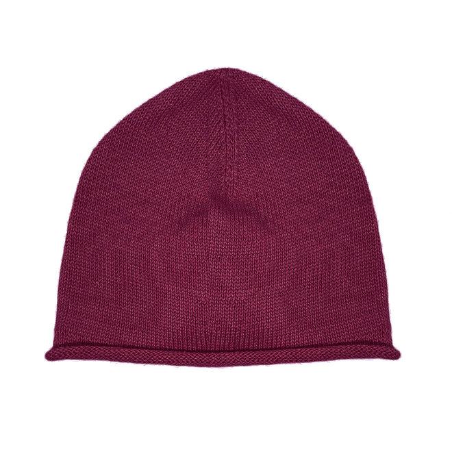 CAP - 100% ALPACA WOOL FINE - BURGUNDY