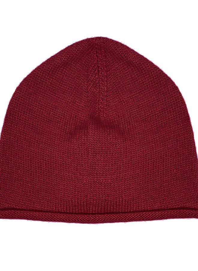 CAP PLANE - 100% ALPACA WOOL FINE - DARK RED