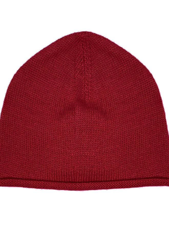 CAP PLANE - 100% ALPACA WOOL FINE - RED