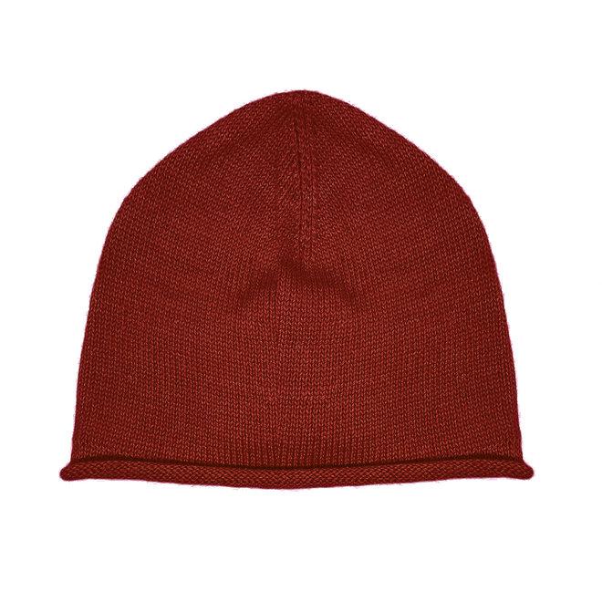 CAP - 100% ALPACA WOOL FINE - TERRAKOTA