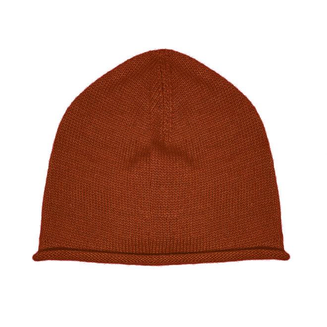 CAP PLANE - 100% ALPACA WOOL FINE - DARK ORANGE