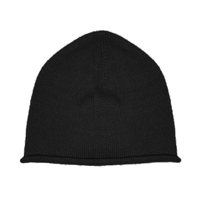 CAP PLANE - 100% ALPACA WOOL FINE - BLACK