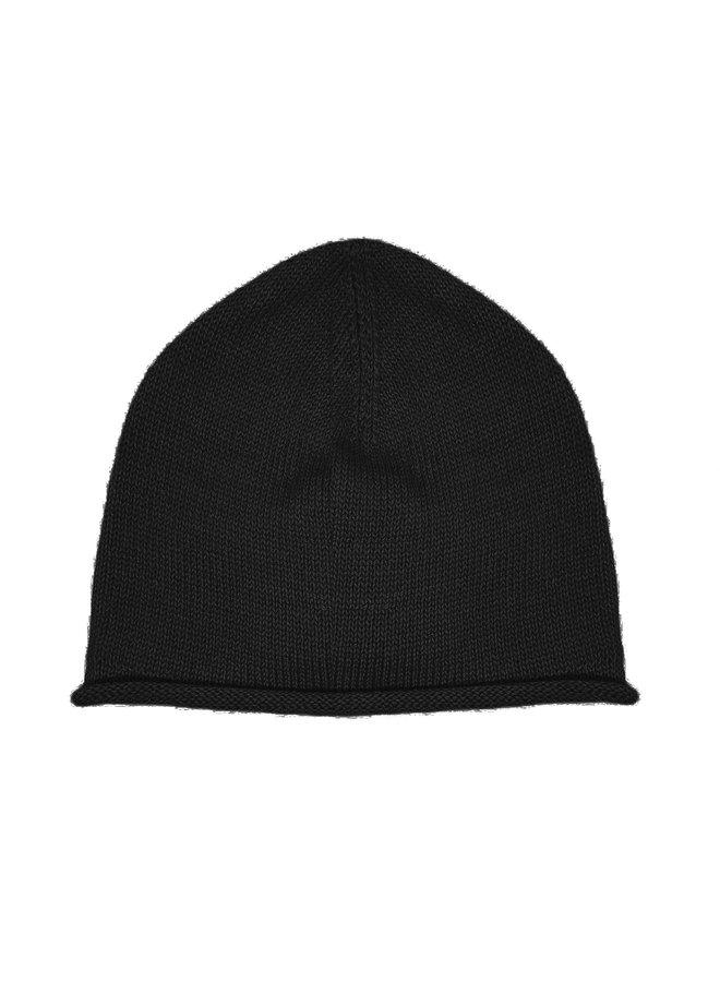 CAP - 100% ALPACA WOOL FINE - BLACK