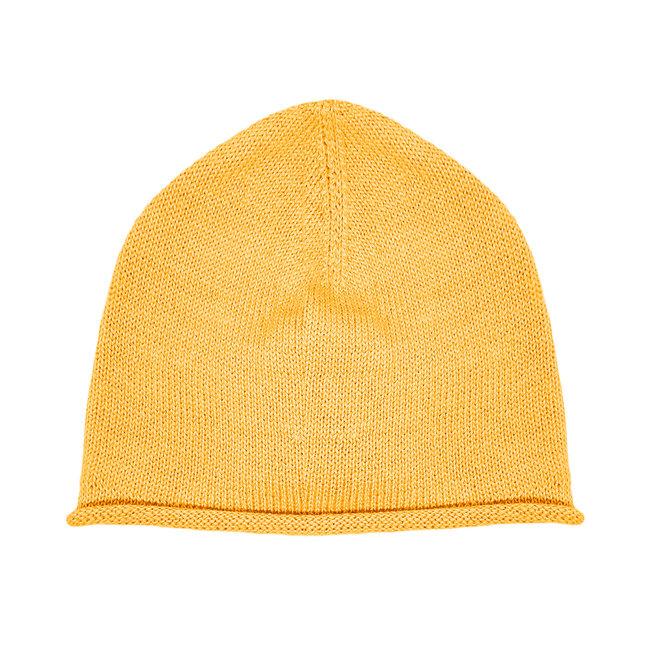 CAP - 100% ALPACA WOOL FINE - MUSTARD