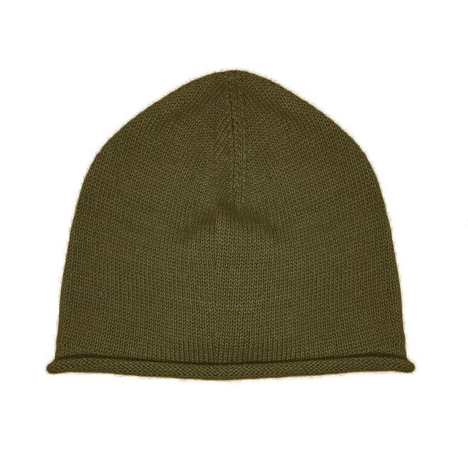 CAP PLANE - 100% ALPACA WOOL FINE - MILITAR GREEN