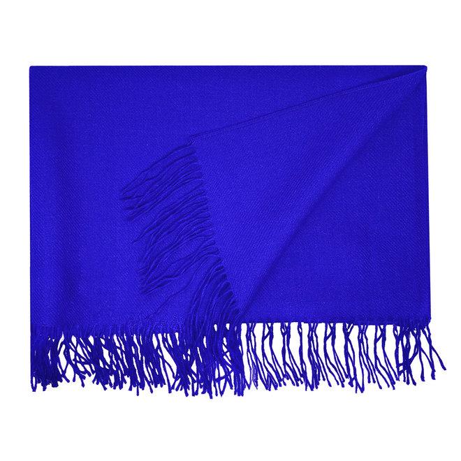 BIG SCHAWL - 100% BABY ALPACA WOOL -  KING BLUE