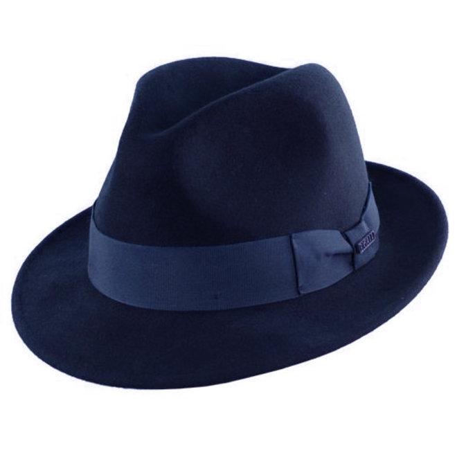 "HUT ""MILANO"" WOLLFILZ AUS ECUADOR - NAVY BLUE"