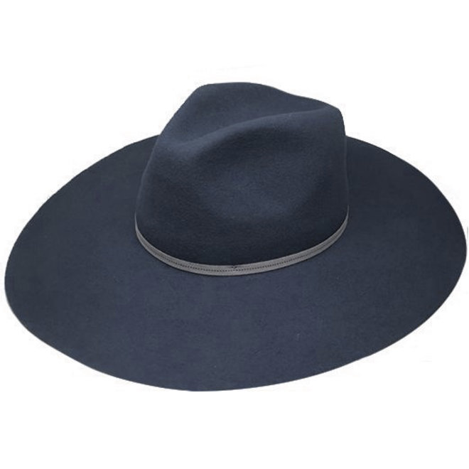 "FLOPPY HAT ""MONACO"" WOOL FELT FROM ECUADOR - SMOKED BLUE"