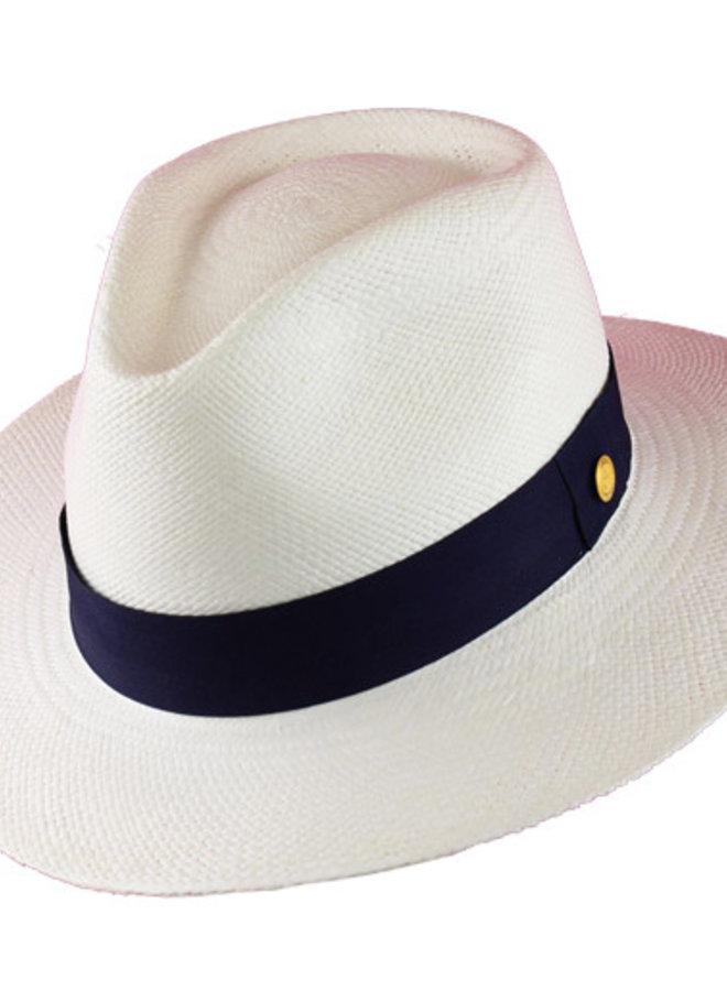 "PANAMA HAT ""SAN DIEGO"" TOQUILLA FROM ECUADOR - WHITE"