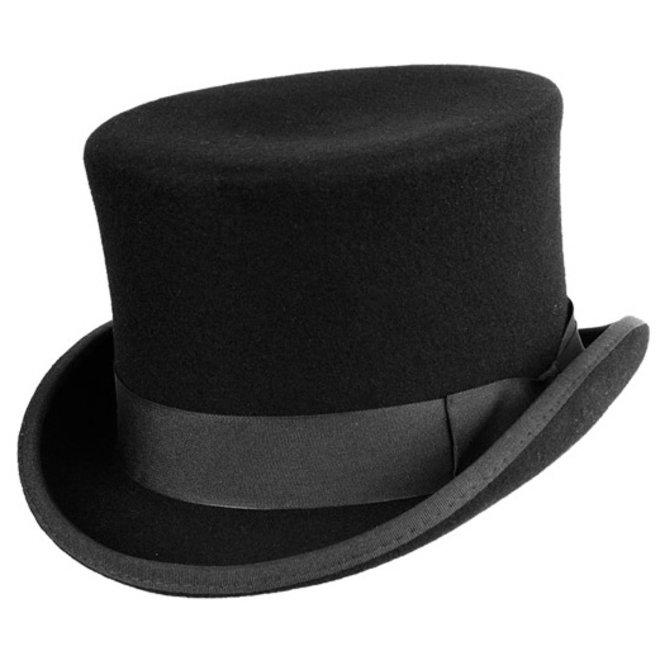 "HAT ""TOPPER"" WOOL FELT FROM ECUADOR - BLACK"