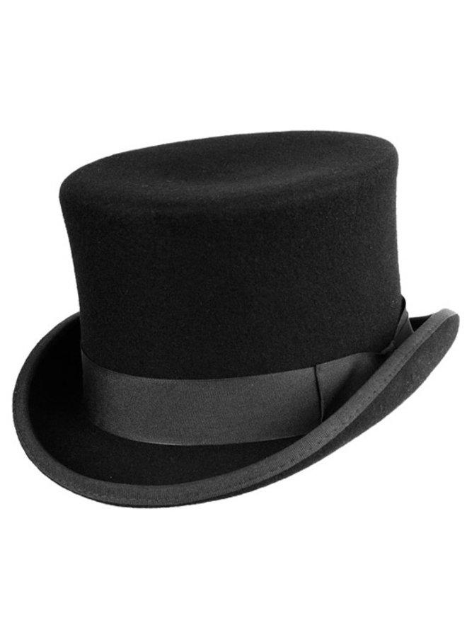 """HAT """"TOPPER"""" WOLL FELT FROM ECUADOR - BLACK"""