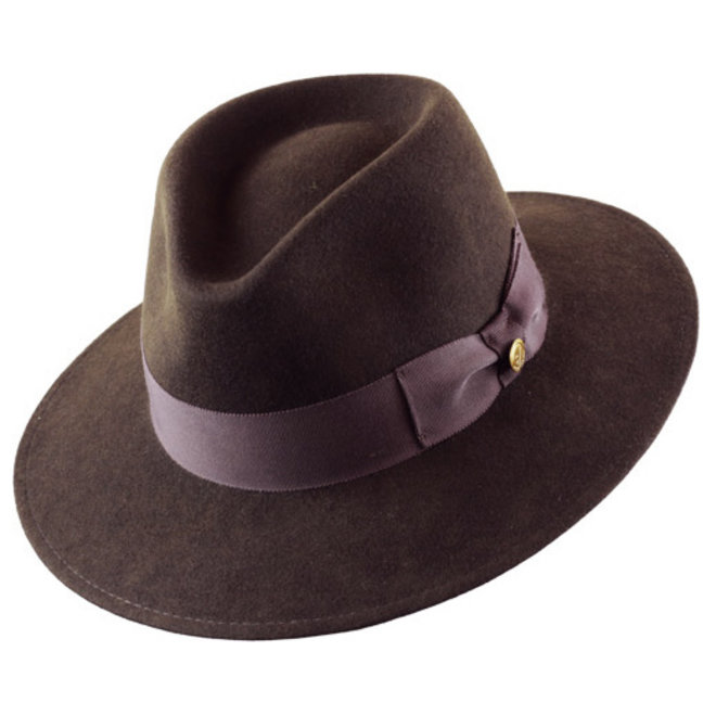 "HAT ""VARON CLASSIC"" WOOL FELT ECUADOR - BROWN"