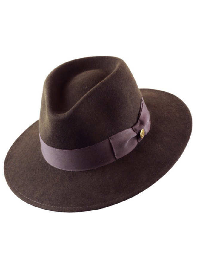 "PANAMA HAT ""VARON CLASSIC"" FUR FELT ECUADOR  - BRAUN"