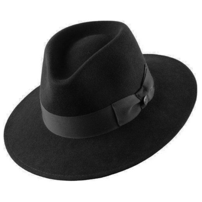 "PANAMA HAT ""VARON CLASSIC"" FUR FELT ECUADOR  - BLACK"