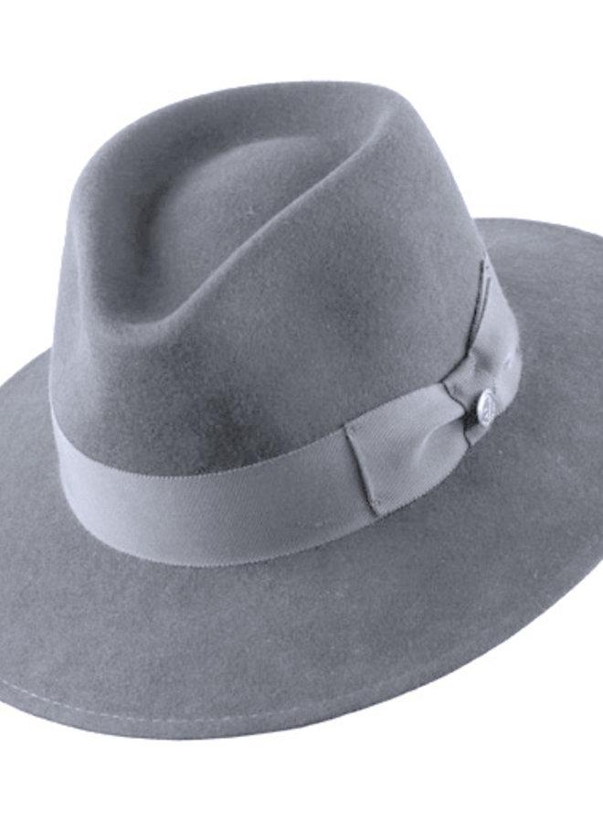 "HAT ""VARON CLASSIC"" FUR FELT ECUADOR - LIGHT GREY"
