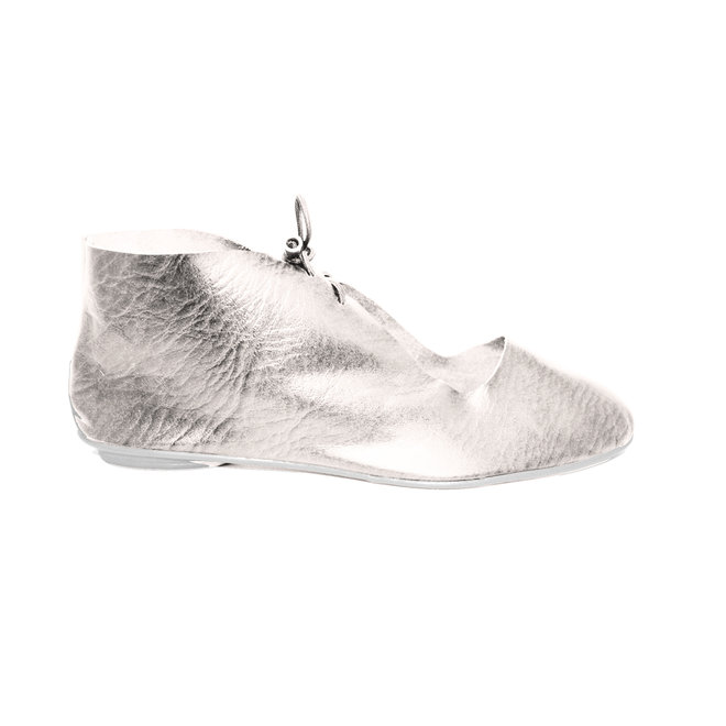 "SHOES ""NORA"" SOFT LEATHER - SILVER - BRASIL - VOLARE NEW COLLECTION"
