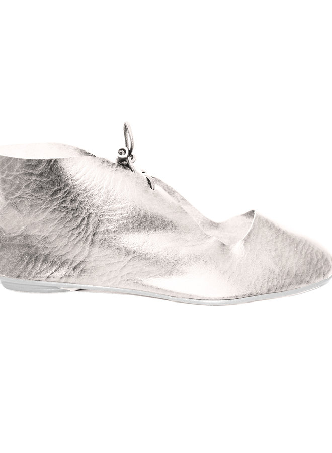 """SHOES """"NORA"""" SOFT LEATHER - SILVER -  BRASIL"""