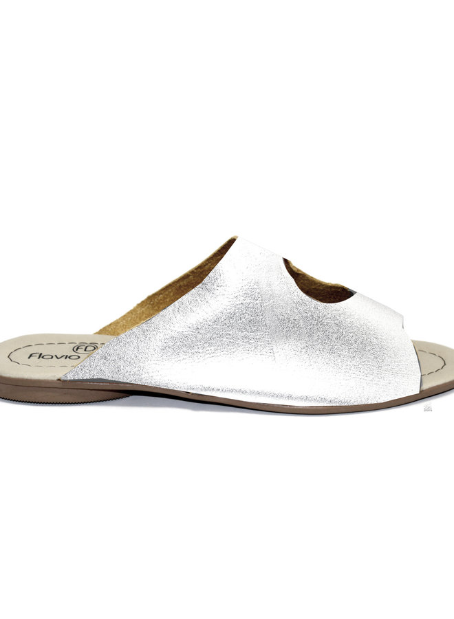 """SANDALS """"STELLA"""" SOFT LEATHER - SILVER - BRASIL - VOLARE NEW COLLECTION"""