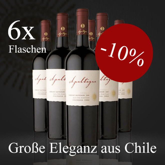 OFFER 6 BOTTLES - CABERNET SAUVIGNON RESERVA FROM CHILE - 2018